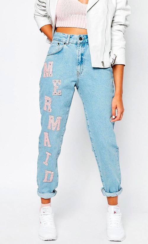 Pantalones con parches