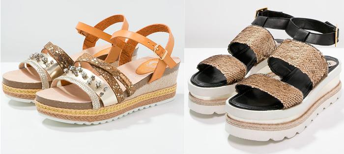 Zapato plataforma plana