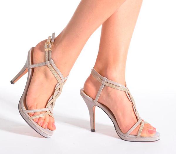 Zapatos de novia metalizados