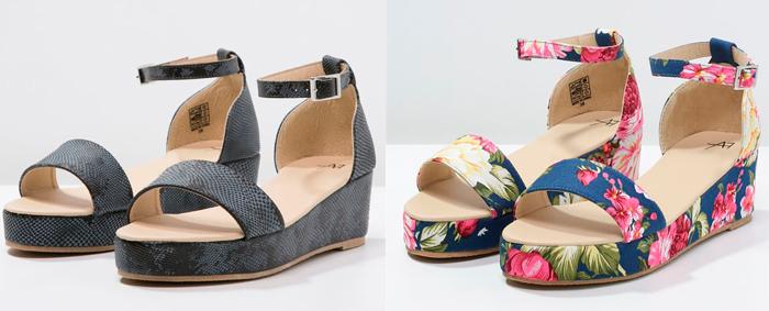 Zapatos plataforma plana