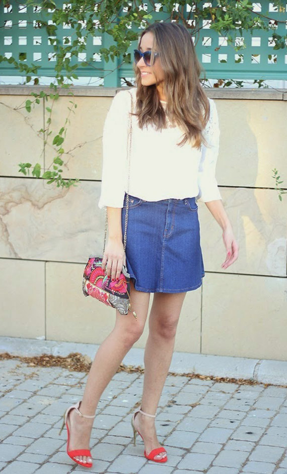 Look falda vaquera