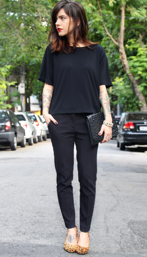 Look total black de diario