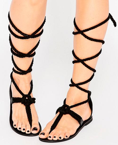 Sandalias gladiador altas