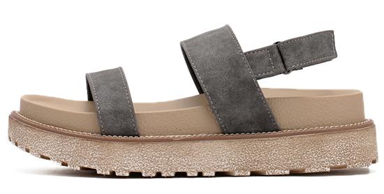 Zapatos con plataforma plana