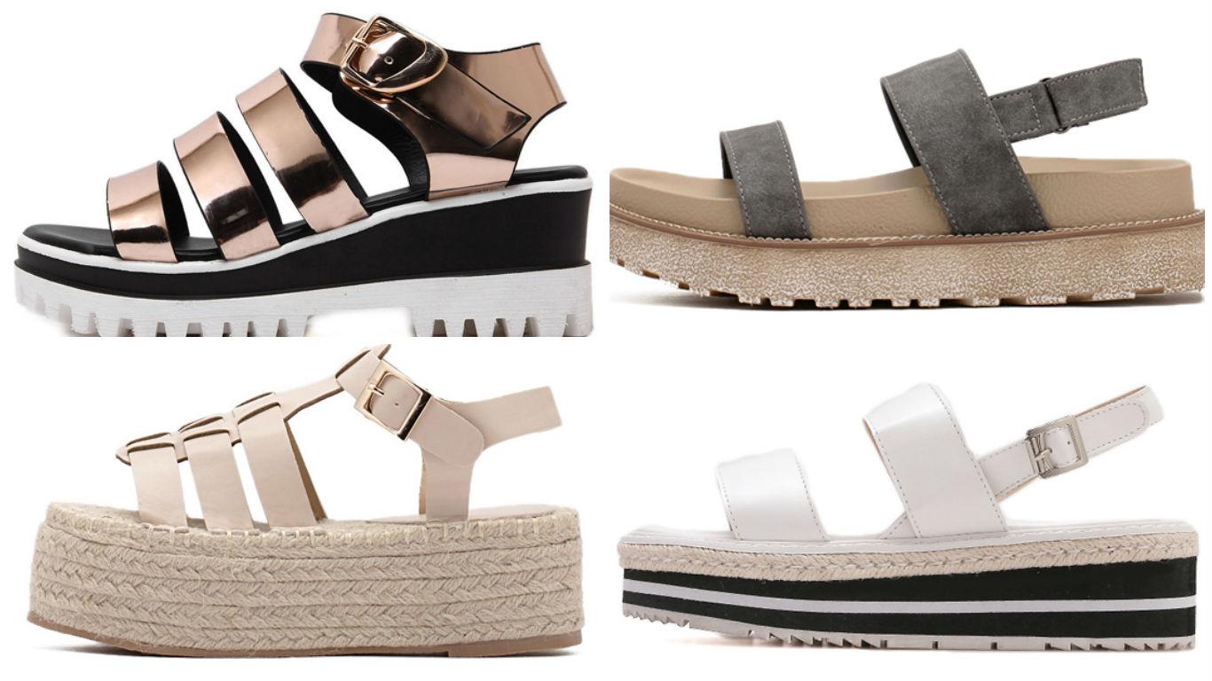 224de07900e3a zapatos plataforma plana economicos - Tu Moda Online