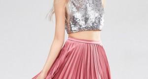Faldas largas plisadas