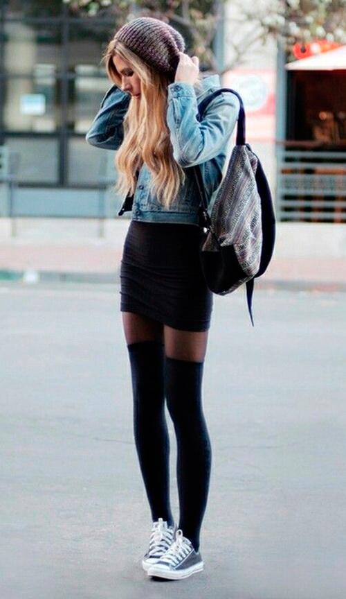 Moda calcetines altos