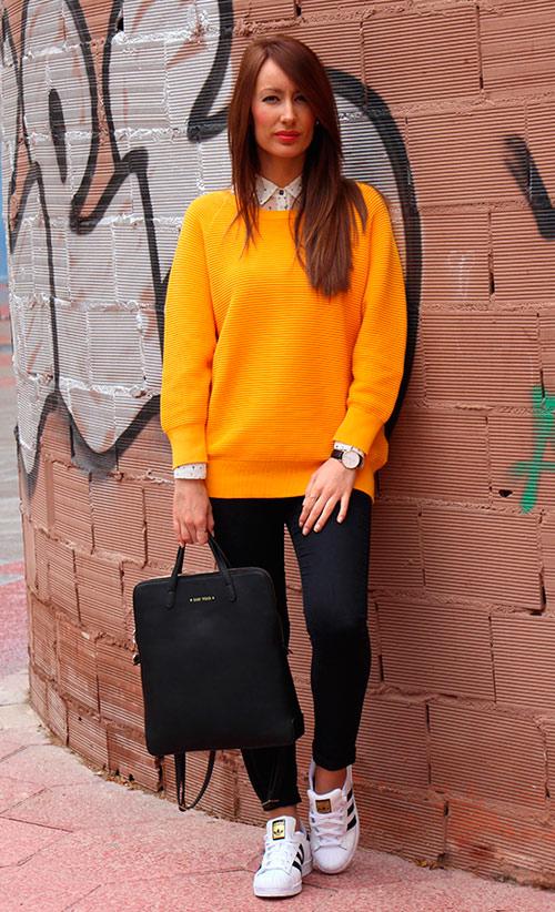 finest selection 6d578 a47fd Looks mujer otoño Zapatillas Adidas Superstar. Otra forma de como combinar  ...