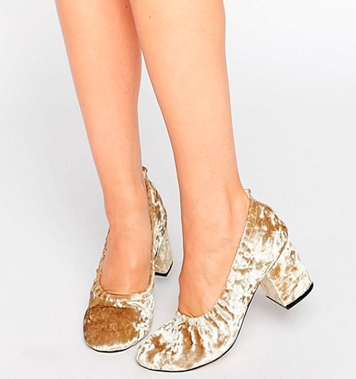 zapatos de terciopelo mujer