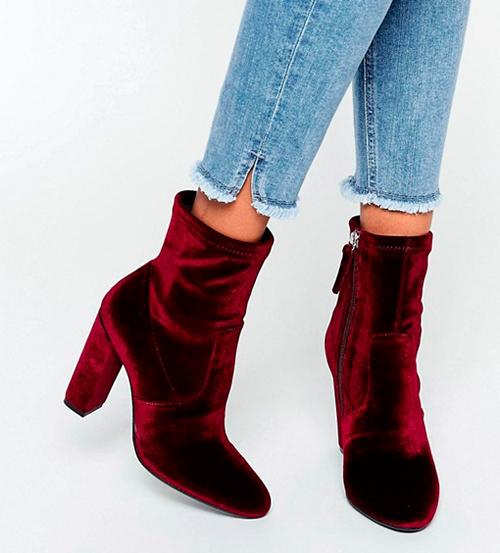 zapatos rojos terciopelo