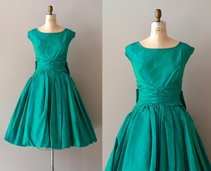 vestidos de fiesta años 50