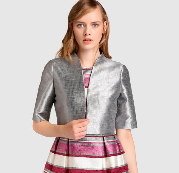 Vestido medio de trabajo verano, manga de la tela escocesa