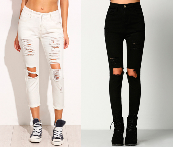jeans rotos mujer