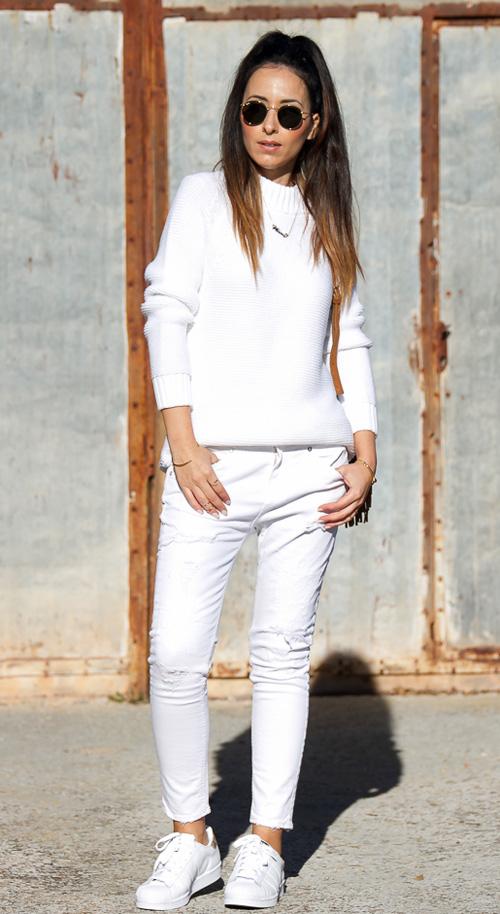 pantalón blanco mujer