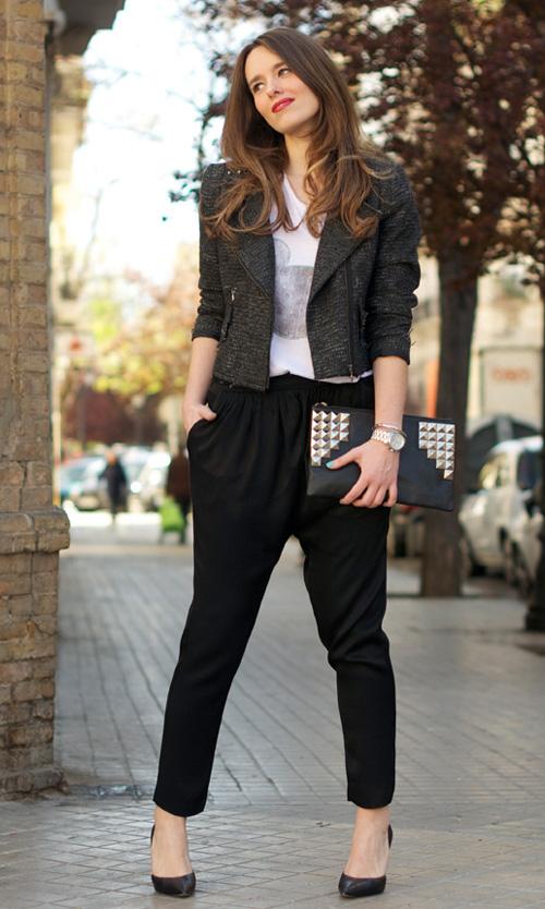 pantalones baggy mujer