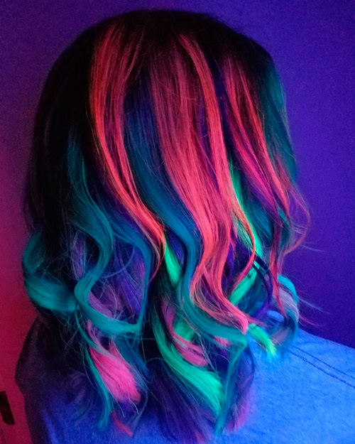 Glow hair DIY