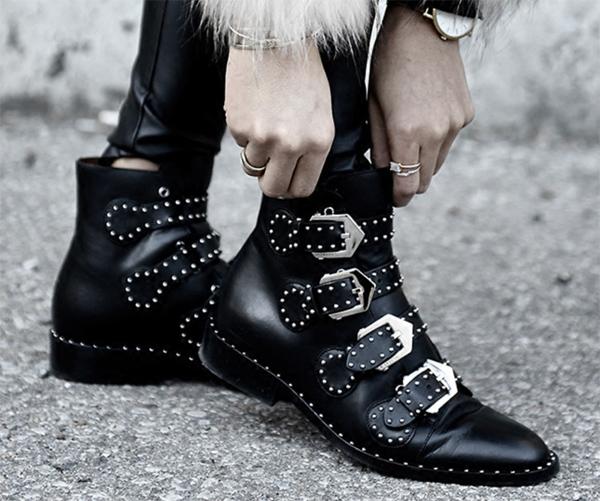 botines negros de marca