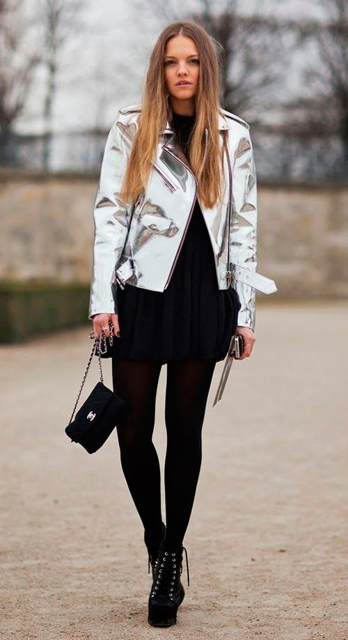 chaqueta metalizada Zara