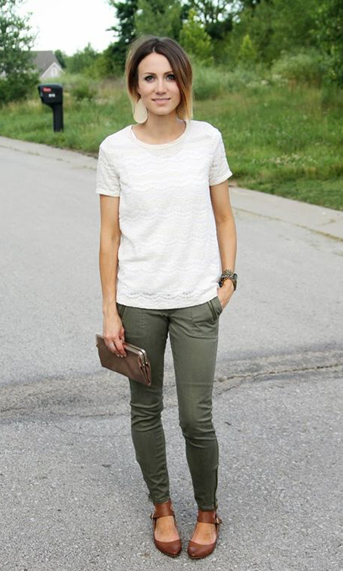pantalones verdes para mujer