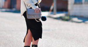 Falda midi mujer