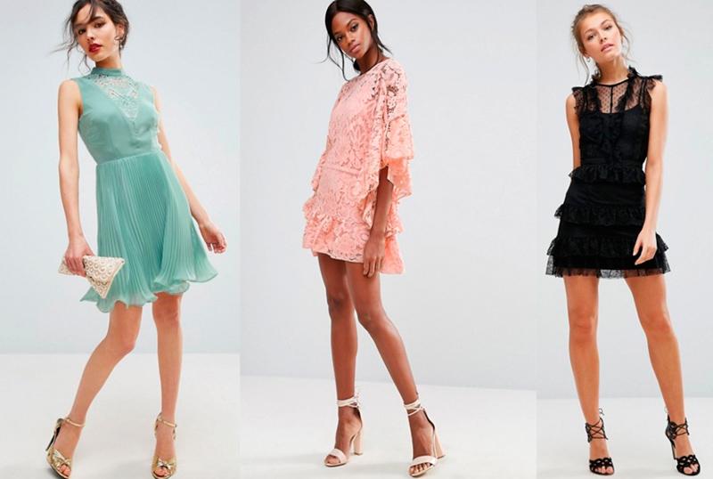 a04b5739249b ▷ 10 Vestidos de Encaje Cortos y Elegantes que te Enamorarán ®