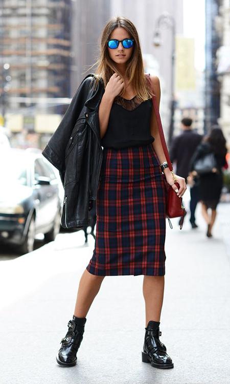 falda a cuadros mujer