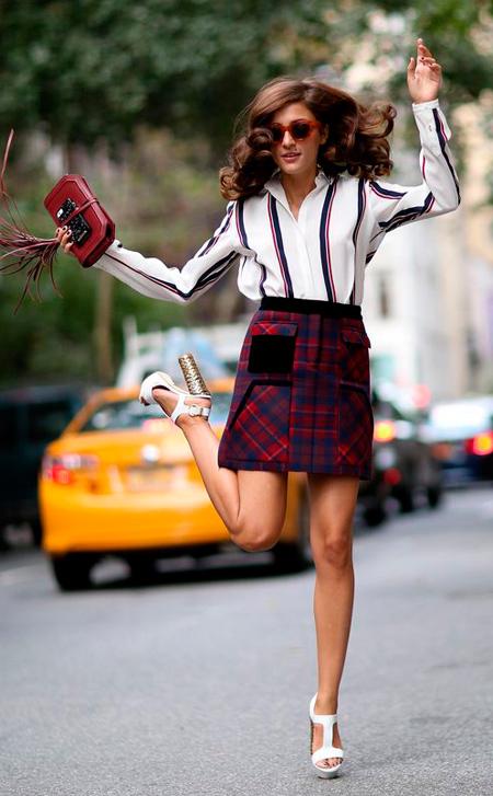 falda escocesa mujer