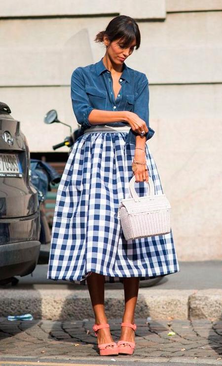 faldas de cuadro midi. falda a cuadros mujer. faldas cuadros baratas. faldas  de temporada · Tu Moda Online 434fde314928