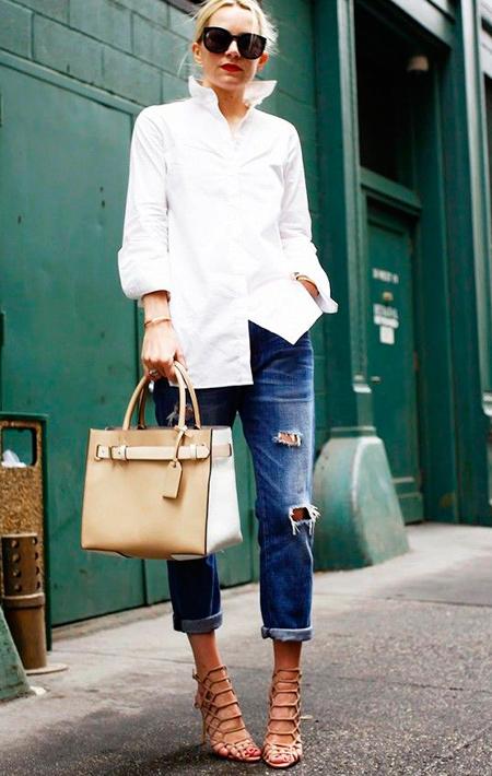 camisa blanca mujer