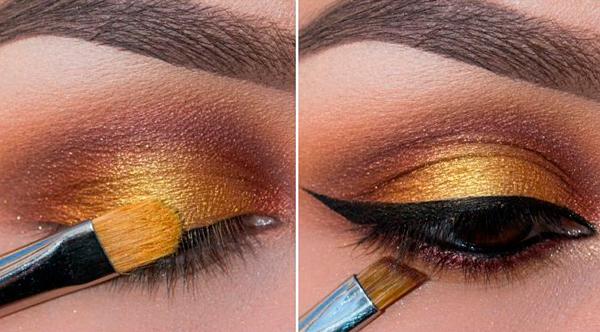 maquillaje ahumado ojos
