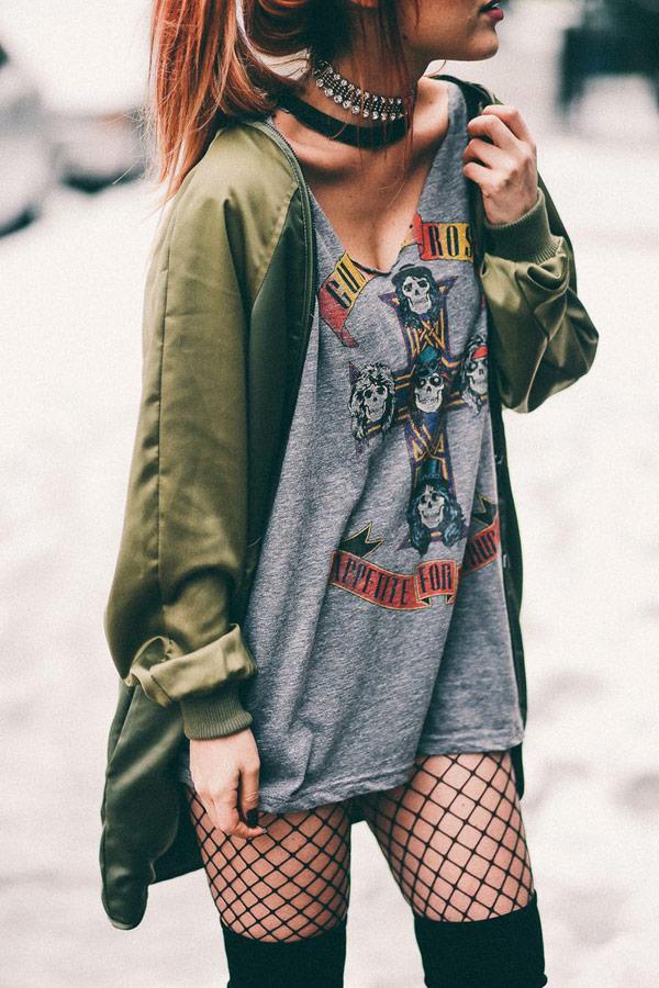 cómo vestir el estilo grunge