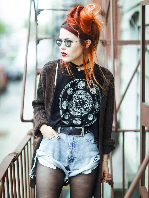 cómo vestir grunge