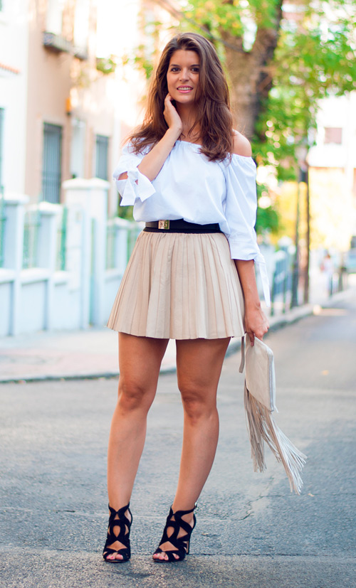 como combinar una minifalda