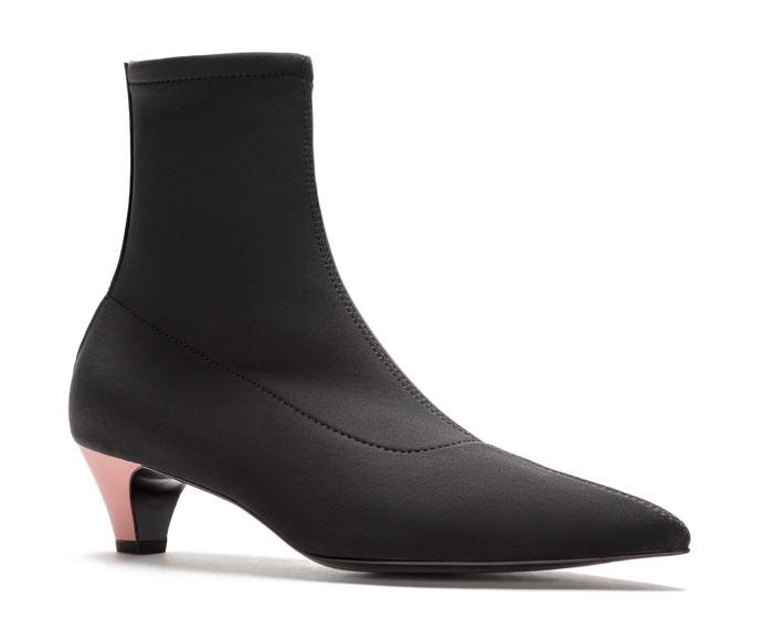botín tacón calcetín
