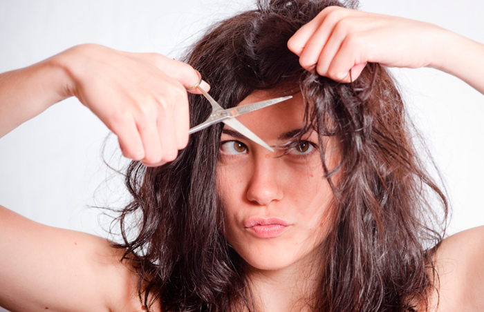 corte pelo rizado corto mujer