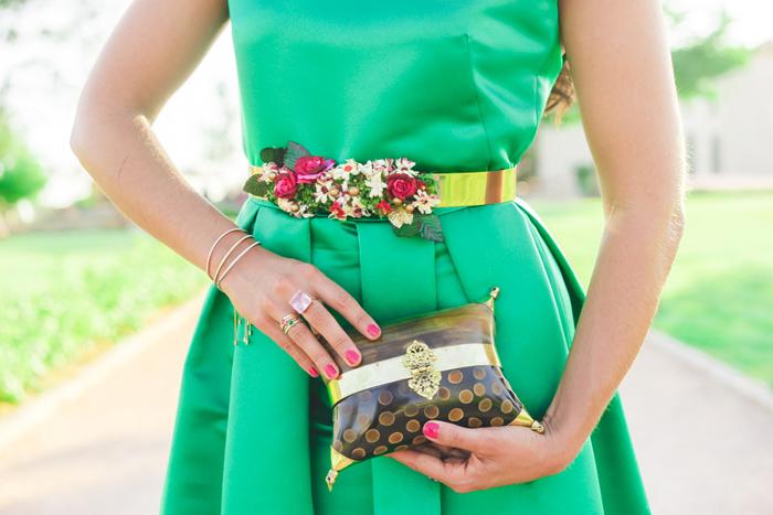 tocados para vestido verde
