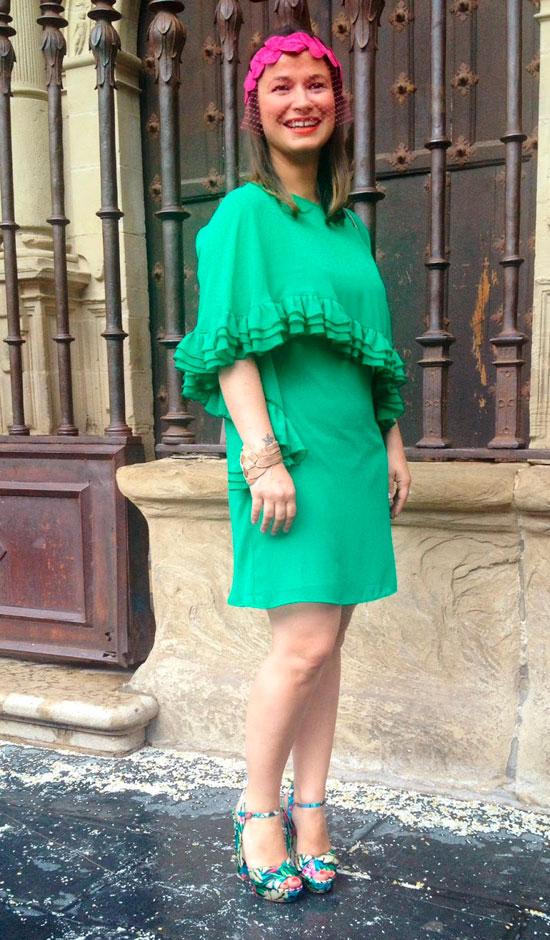 vestido boda verde