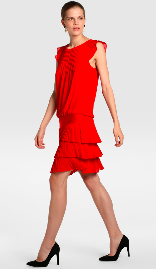 vestidos rojos corto