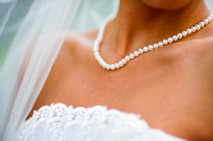 collar de perla novia