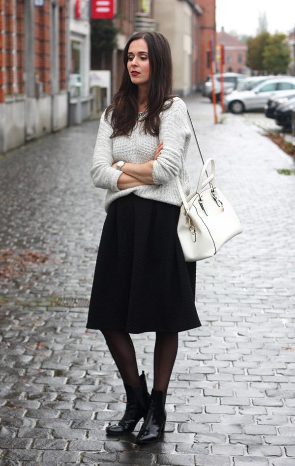 look botines y vestido