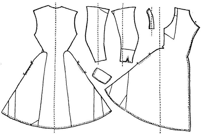 patrones de vestidos de punto