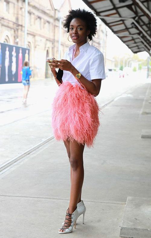 comprar falda de plumas online