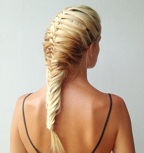 peinado trenza espiga