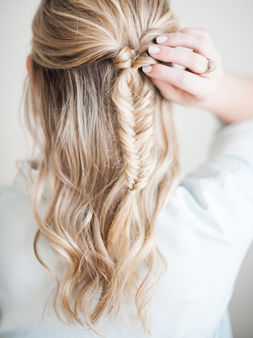 peinados trenza espiga