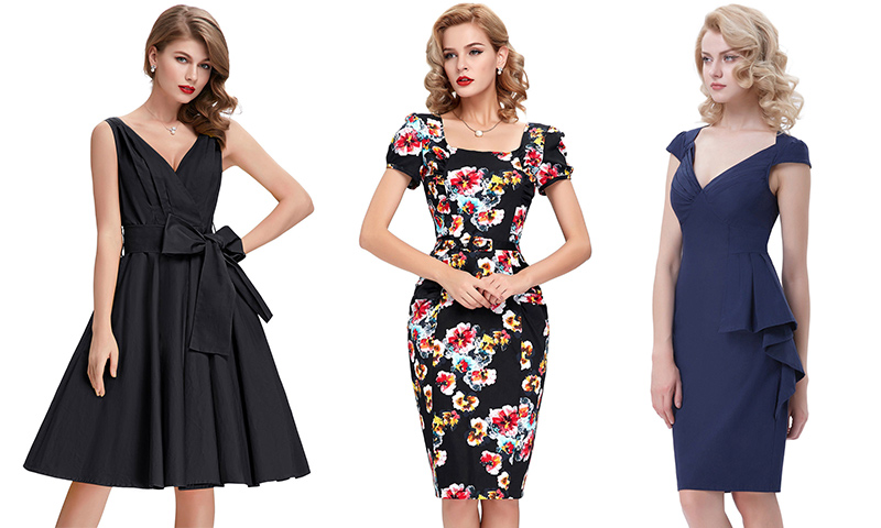 vestidos de años 60