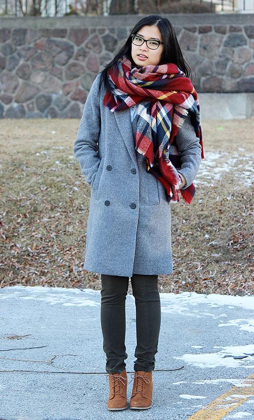 cómo combinar una bufanda mujer