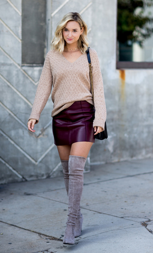 2a9dc1129 cómo combinar una falda corta - Tu Moda Online