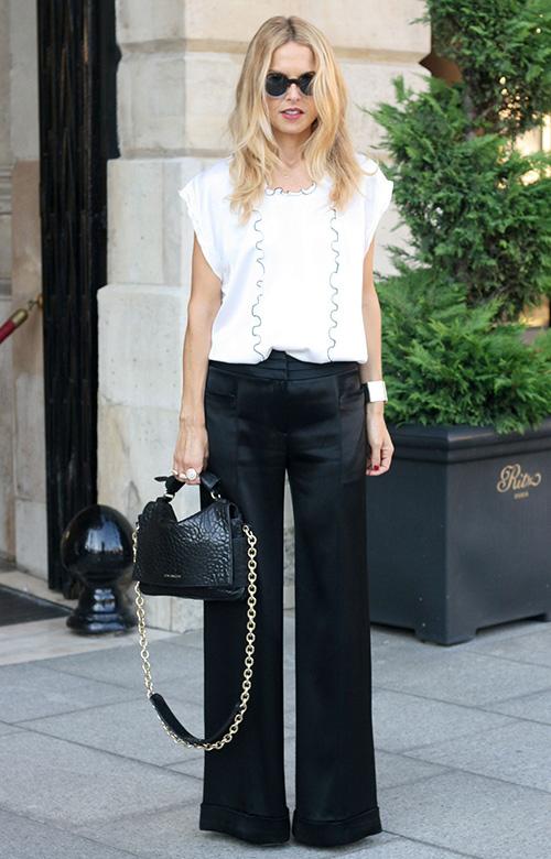 imágenes de pantalones anchos para dama