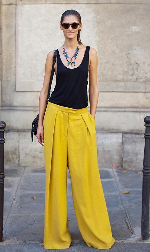 pantalones anchos de vestir