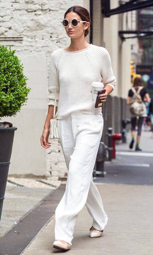 vestido blanco en invierno
